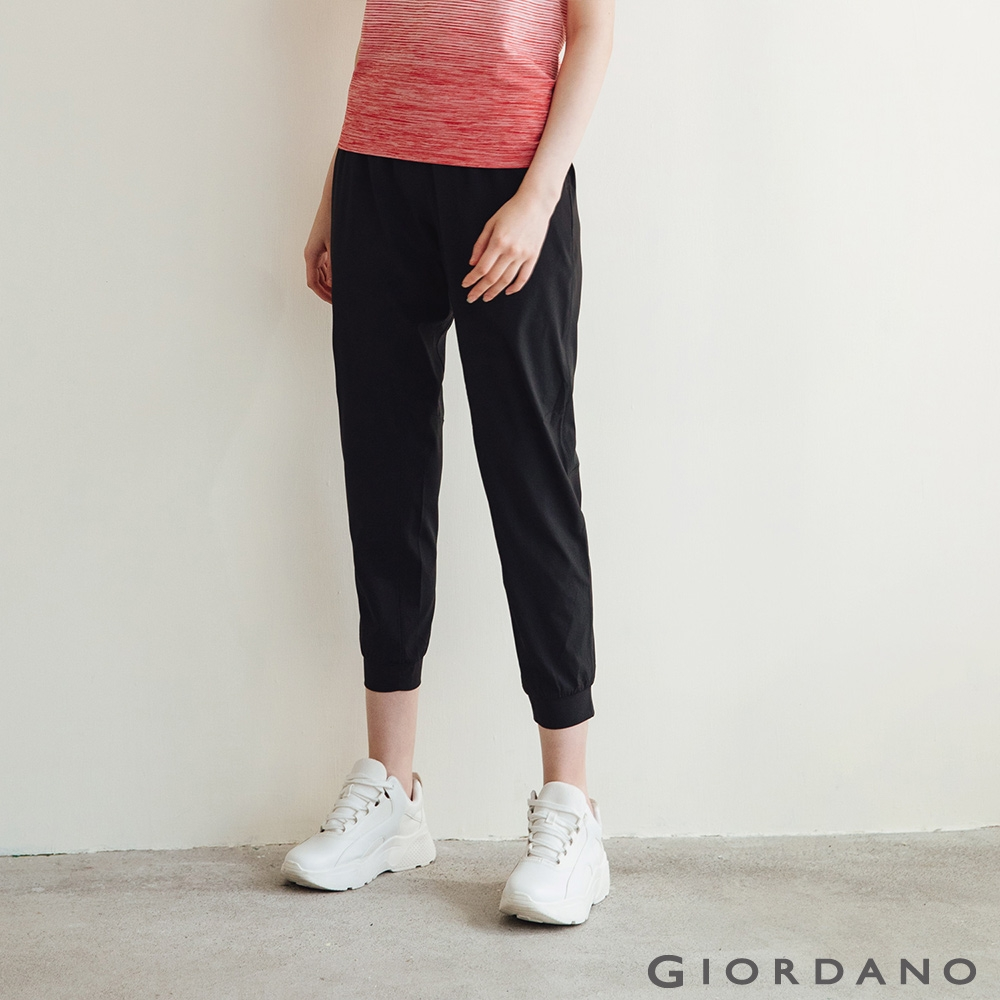 GIORDANO 女裝3M輕薄收納縮口褲 - 19 標誌黑