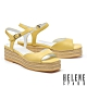 涼鞋 HELENE SPARK 簡約清新羊皮厚底涼鞋-黃 product thumbnail 1
