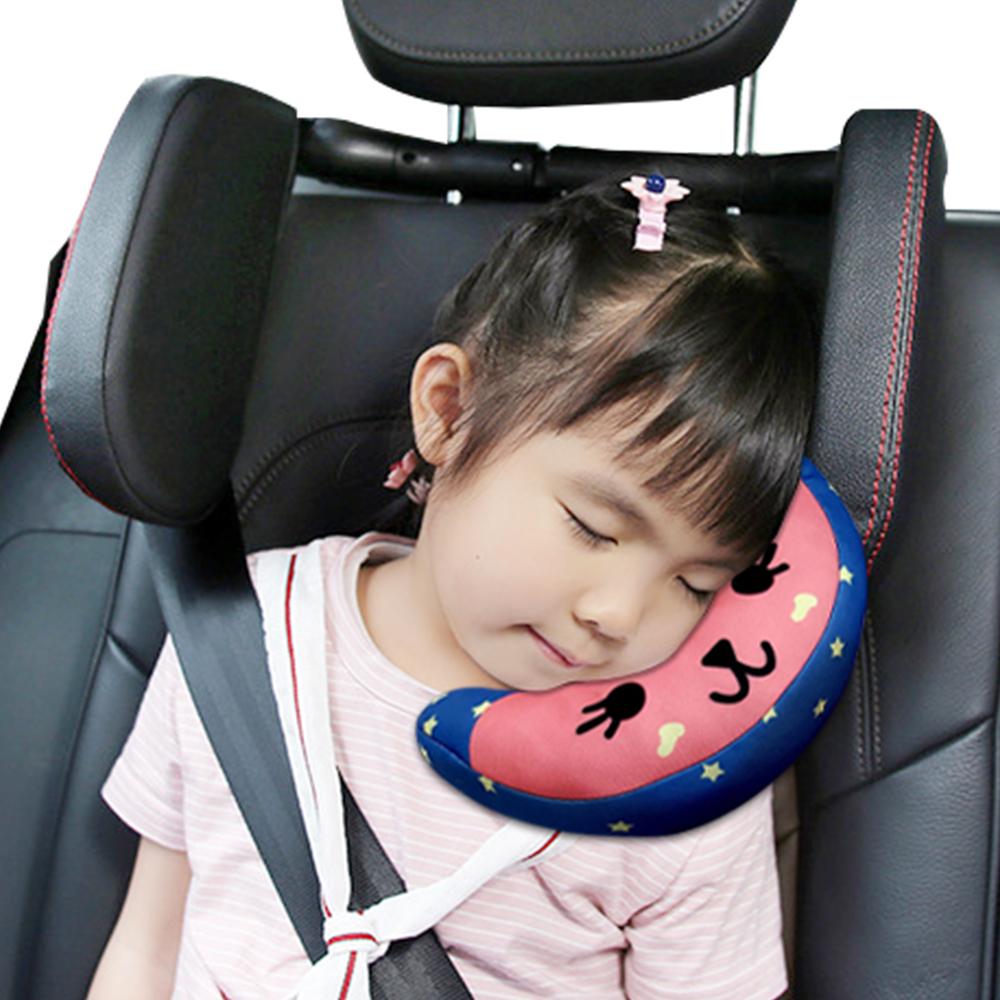 兒童安全帶護肩枕 汽車頸枕睡枕安全座椅護頸-2件組