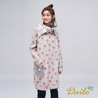 Dailo INLook 小雪人與夢不落帝國之雪球長版洋裝(灰色)