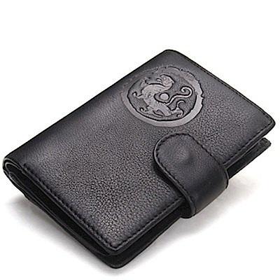 米蘭精品 短夾真皮皮夾-牛皮搭扣短款可放護照錢包情人節生日禮物3色73ny46