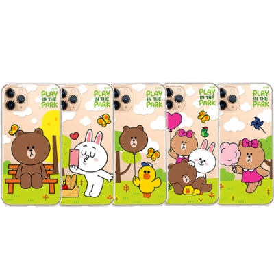 GARMMA LINE FRIENDS iPhone 11 保護軟殼-公園款