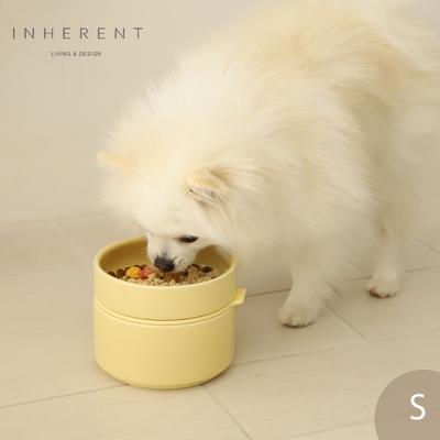 韓國Inherent Pudding 可堆疊寵物碗 寵物碗 狗碗 S 檸檬黃