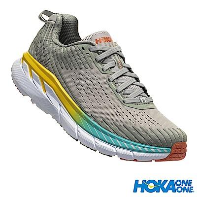 HOKA ONE ONE 女 寬楦 Clifton 5 路跑鞋 鍛造鐵