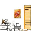 24mama掛畫-單聯式 花卉 油畫風 喜氣 無框畫 30X40cm-艷麗