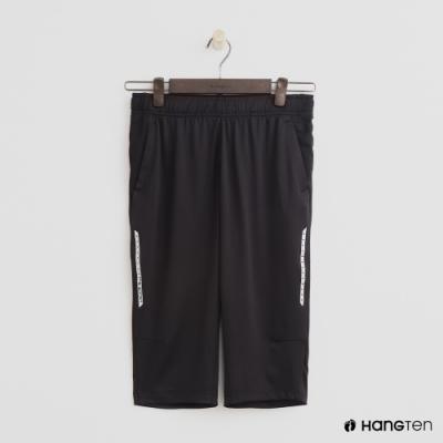 Hang Ten- 青少童裝-簡約休閒長褲-黑