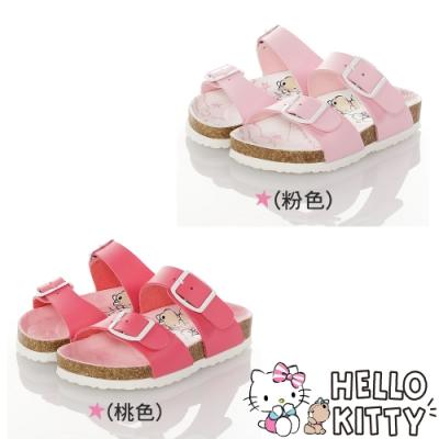 Hello Kitty童鞋 輕量減壓吸震腳床型拖鞋-粉.桃