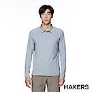 【HAKERS】男款 舒適休閒POLO衫(麻花灰)