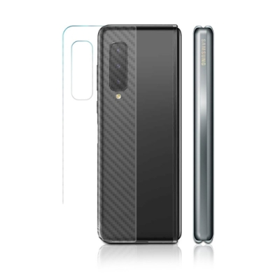 o-one大螢膜PRO 三星SAMSUNG Galaxy Fold 滿版全膠手機背面保護貼-CARBON款