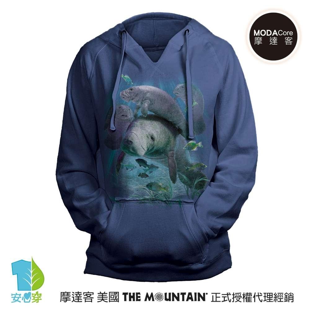 摩達客 預購 美國進口The Mountain 棲息海牛群 女版V領長袖連帽T恤