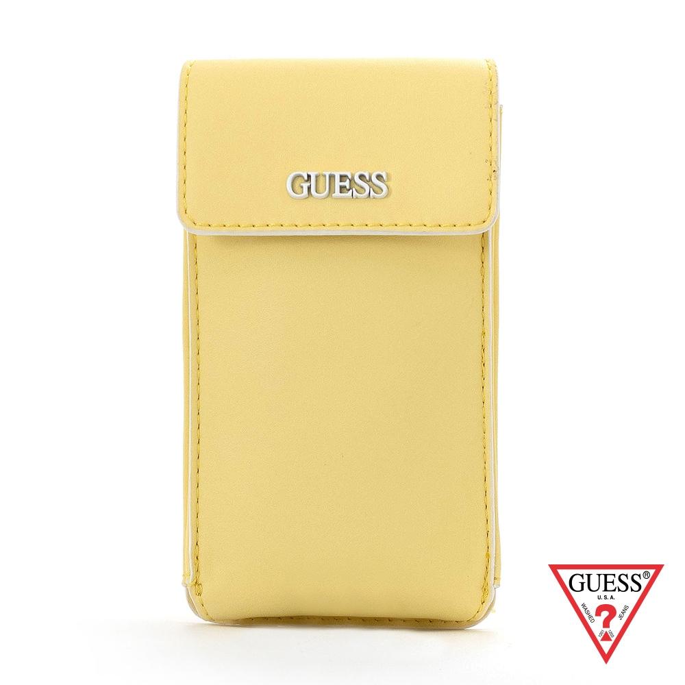 GUESS-女包-時尚鏈條純色手機包-黃 原價2090