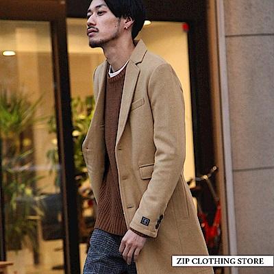 長版混羊毛切斯特大衣(7色) ZIP日本男裝