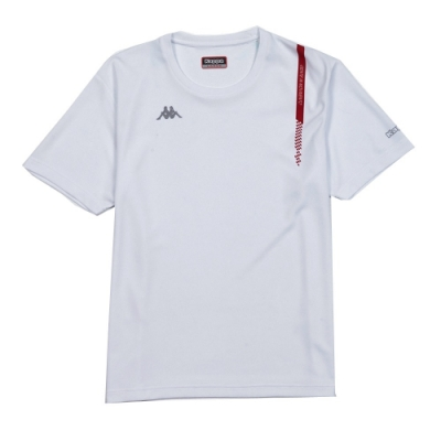 KAPPA義大利 精典時尚型男吸溼排汗圓領衫白 304TY60001