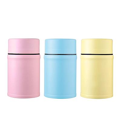 AURA艾樂 316不鏽鋼馬卡龍食物罐附湯匙800ML(3色可選)