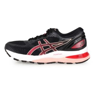 ASICS 女 慢跑鞋 GEL-NIMBUS 21 黑玫粉