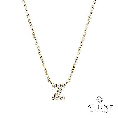 A-LUXE 亞立詩 Alphabet系列10K鑽石項鍊-Z