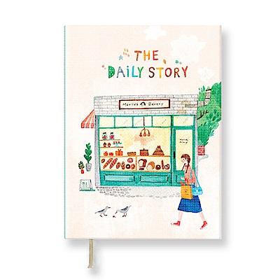 7321 Design Aoz 橫線方塊筆記本-麵包店