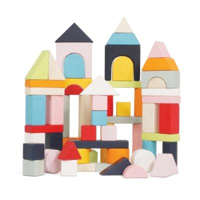 英國 Le Toy Van- Petilou系列啟蒙玩具系列-繽紛藝術木質益智啟蒙積木