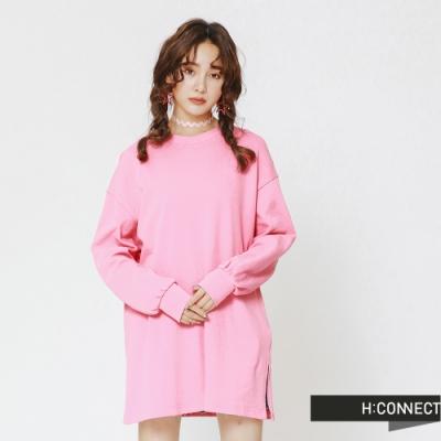 H:CONNECT 韓國品牌 女裝 - 後印字舒適感上衣-粉(快)
