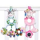 JoyNa安撫玩具 可愛動物床掛 多觸感動物手搖鈴