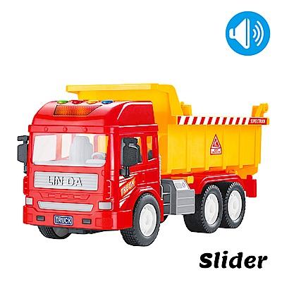 Slider聲光磨輪工程車 砂石車