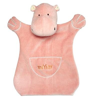 美國miYim有機棉手偶安撫巾-喜寶河馬