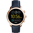 Fossil Q Explorist 系列觸控智能手錶-玫瑰金框x藍/44mm