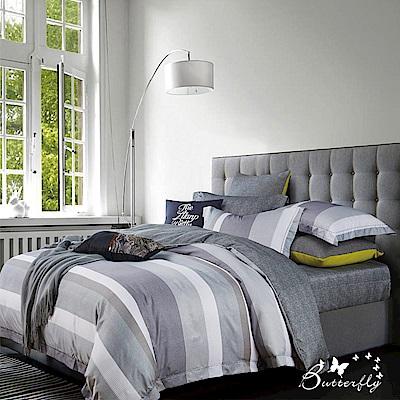 BUTTERFLY-3M專利+頂級天絲-加大薄床包被套四件組-都市密碼