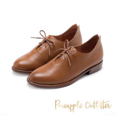 Pineapple Outfitter-MIIRA知性學院綁帶牛津鞋-棕色