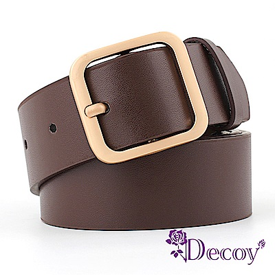Decoy 方金扣頭 中性簡約時尚皮帶 3色可選