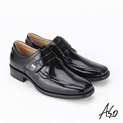 A.S.O 菁英通勤 鏡面牛皮奈米紳士鞋 黑
