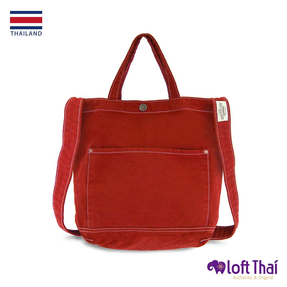 Loft THAI | 泰.兩用水洗帆布單肩包 | Orange @ Y!購物