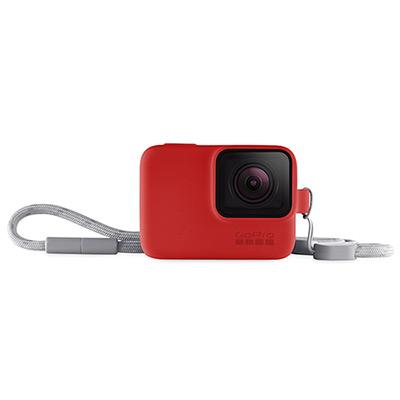 GoPro-專用矽膠護套+繫繩 紅色ACSST-005