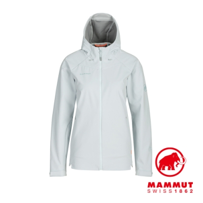 【Mammut 長毛象】Sapuen SO Hooded Jacket 防風透氣軟殼連帽外套 白謠曲 女款 #1011-01060