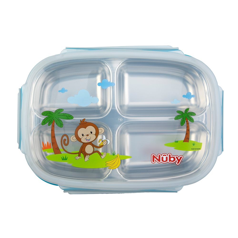 Nuby不鏽鋼分格餐盒_藍(12M+) @ Y!購物