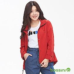 bossini女裝-休閒連帽外套02暗紅