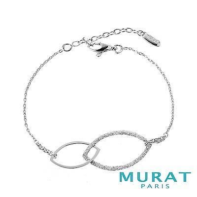 MURAT Paris米哈巴黎 晶亮立體雙環手鍊