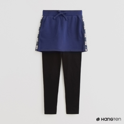 Hang Ten - 童裝 - 假兩件附裙擺休閒長褲 - 藍