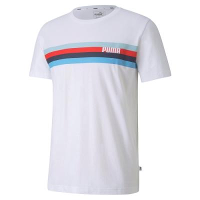 PUMA-男性基本系列Celebration短袖T恤-白色-歐規