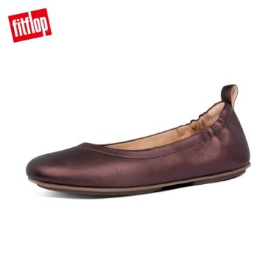 【FitFlop】ALLEGRO BALLERINAS 經典芭蕾舞鞋-女(金屬巧克力色)