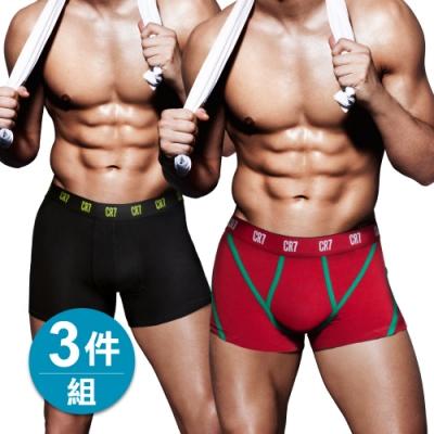 [時時樂限定] CR7 C羅納度 限時特賣男內褲3件組 四角男內褲