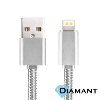 Diamant Lightning to USB 加固編織線身充電傳輸線 1M