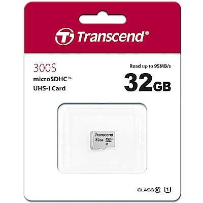 Transcend 創見 300S 32GB U1 microSDHC UHS-I 記憶卡