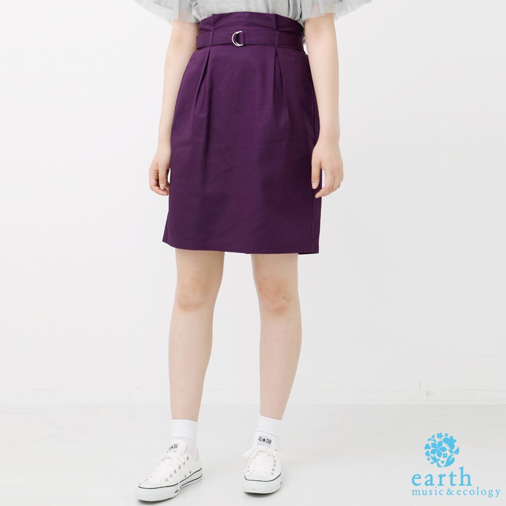 earth music 附腰帶高腰窄身裙