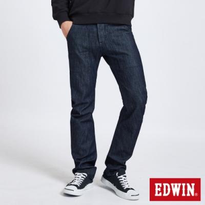 EDWIN E-FUNCTION 3D 伸縮窄直筒牛仔褲-男-原藍色