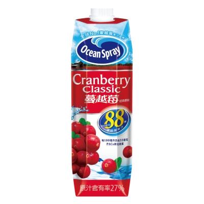 優鮮沛 蔓越莓綜合果汁-經典原味(1000mlx10入)