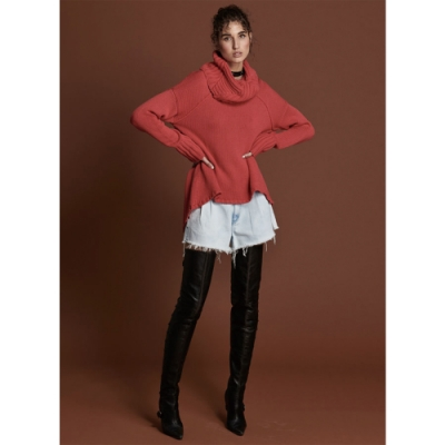 ONETEASPOON ROLL NECK SWEATER 露背毛衣-女(紅)