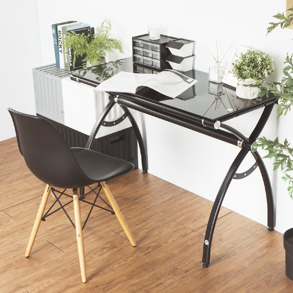 完美主義 強化玻璃電腦桌/工作桌/書桌(2色)-105x50x75