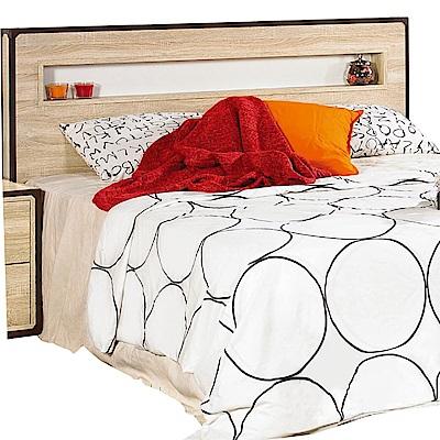 文創集 馬斯特時尚5尺雙人床頭片-156x10x110cm免組