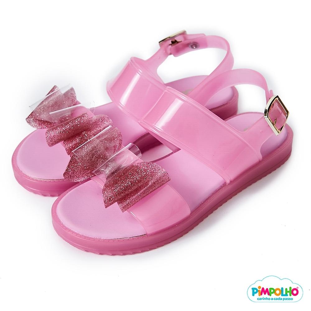 Pimpolho 雙層蝴蝶結休閒涼鞋-童-粉紅